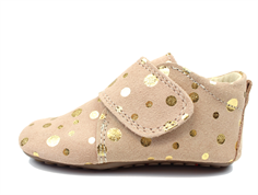 Pom Pom slippers peach gold dot