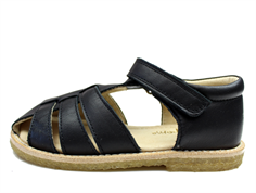 Pom Pom sandal black with velcro