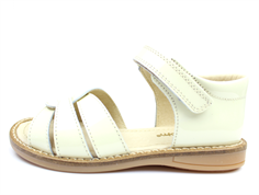 Pom Pom sandal off-white lacquer with velcro