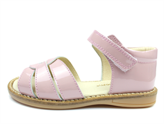 Pom Pom sandal old rose lacquer with velcro