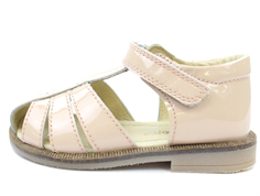 Pom Pom sandal true nude lacquer with velcro