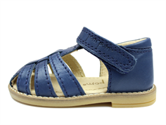 Pom Pom sandal navy with velcro