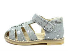Pom Pom sandal silver dot with velcro