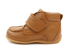 Pom Pom toddler shoe camel with velcro