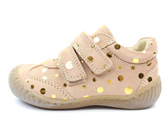 Pom Pom sneaker peach dot with velcro