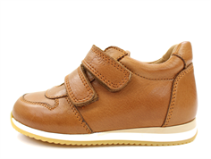 Pom Pom sneaker camel dark with velcro