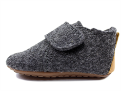 Pom Pom slippers anthracite wool