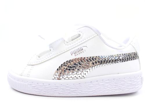 acantilado estropeado Querer  Buy Puma sneaker Basket heart bling puma white/silver at MilkyWalk