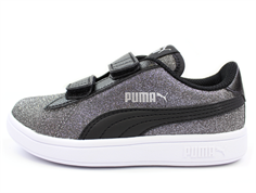 1db4073f70e3 Puma Smash sneaker glitz glam black silver