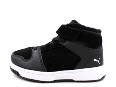 Puma winter sneaker Rebound Layup Fur black/white