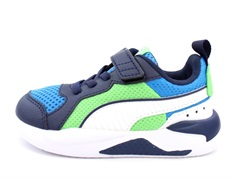 Puma sneakers X-ray and blue/white/peacoat/green