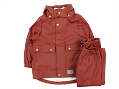 MarMar rainwear pants and jacket wine