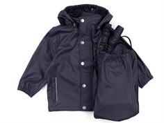 En Fant rainwear pants and jacket blue night