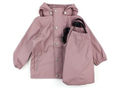 En Fant rainwear pants and jacket toadstool