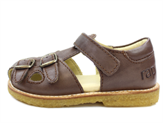 Arauto RAP sandal dark brown with buckles and velcro