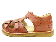 Arauto RAP sandal tuscany cognac with buckles and velcro