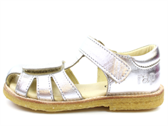 Arauto RAP sandal with silver embroidery flowers (narrow)