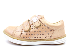 Arauto RAP leather shoe star peach with velcro