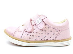 Arauto RAP leather shoe star rose clair with velcro
