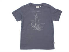 Wheat t-shirt Sailboat greyblue