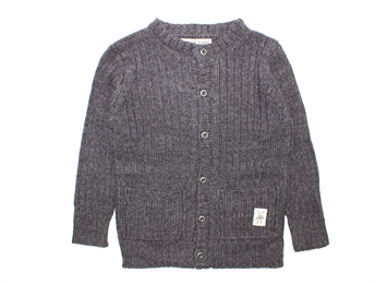 Small Rags Dolly knit cardigan dark gray melange