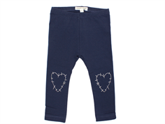Small Rags Fly leggings outer space navy hearts