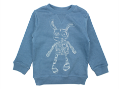 Small Rags Gary sweatshirt aegean blue