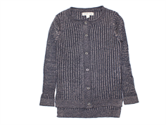 Small Rags cardigan Freya outer space mica