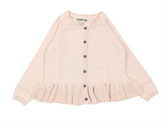 Small Rags cardigan pearl blush