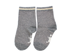 Small Rags socks Grace gray melange glitter