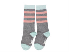 Small Rags socks Grace gray melange stripe glitter