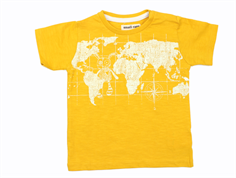 Small Rags t-shirt mineral yellow map
