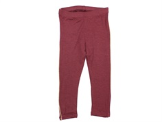 Soft Gallery leggings Paula oxblood red gold stripe