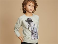 Soft Gallery Chaz sweatshirt gray black monkeyart