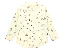 Soft Gallery Holger shirt tribe whisper white