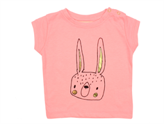 Soft Gallery Nelly t-shirt with lepus neon orange