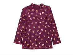 Soft Gallery bath blouse Astin FIG winterberry