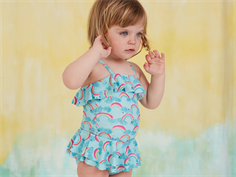 Soft Gallery swimsuit Shirley blue tint rainbow UV