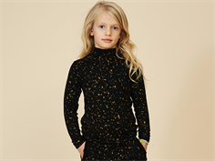 Soft Gallery blouse/top Fayenne jet black flakes gold