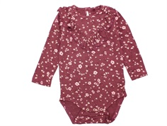 Soft Gallery body Annie oxblood red flowery