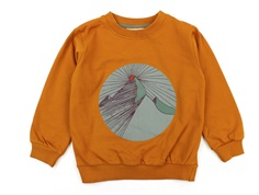 Soft Gallery sweatshirt Konrad pumpkin spice mountains