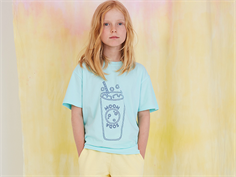 Soft Gallery t-shirt Asger blue tint blue soda