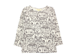 Soft Gallery t-shirt Bella owl cream