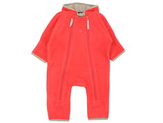 Ver de Terre fleece suit strawberry sorbet/mocha
