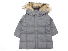 Ver de Terre baby girl winter coat gray melange