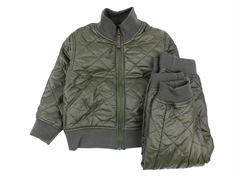 Ver de Terre thermal jacket and pants turtle green