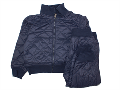 Ver de Terre thermal pants and jacket navy