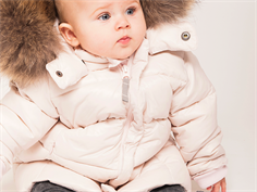 Ver de Terre baby down jacket rose powder