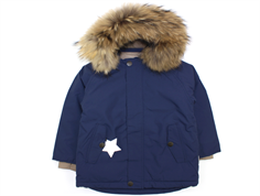 Mini A Ture winter jacket Wally Fur peacoat blue