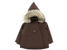 Mini A Ture winter jacket Wang Fur dark choco